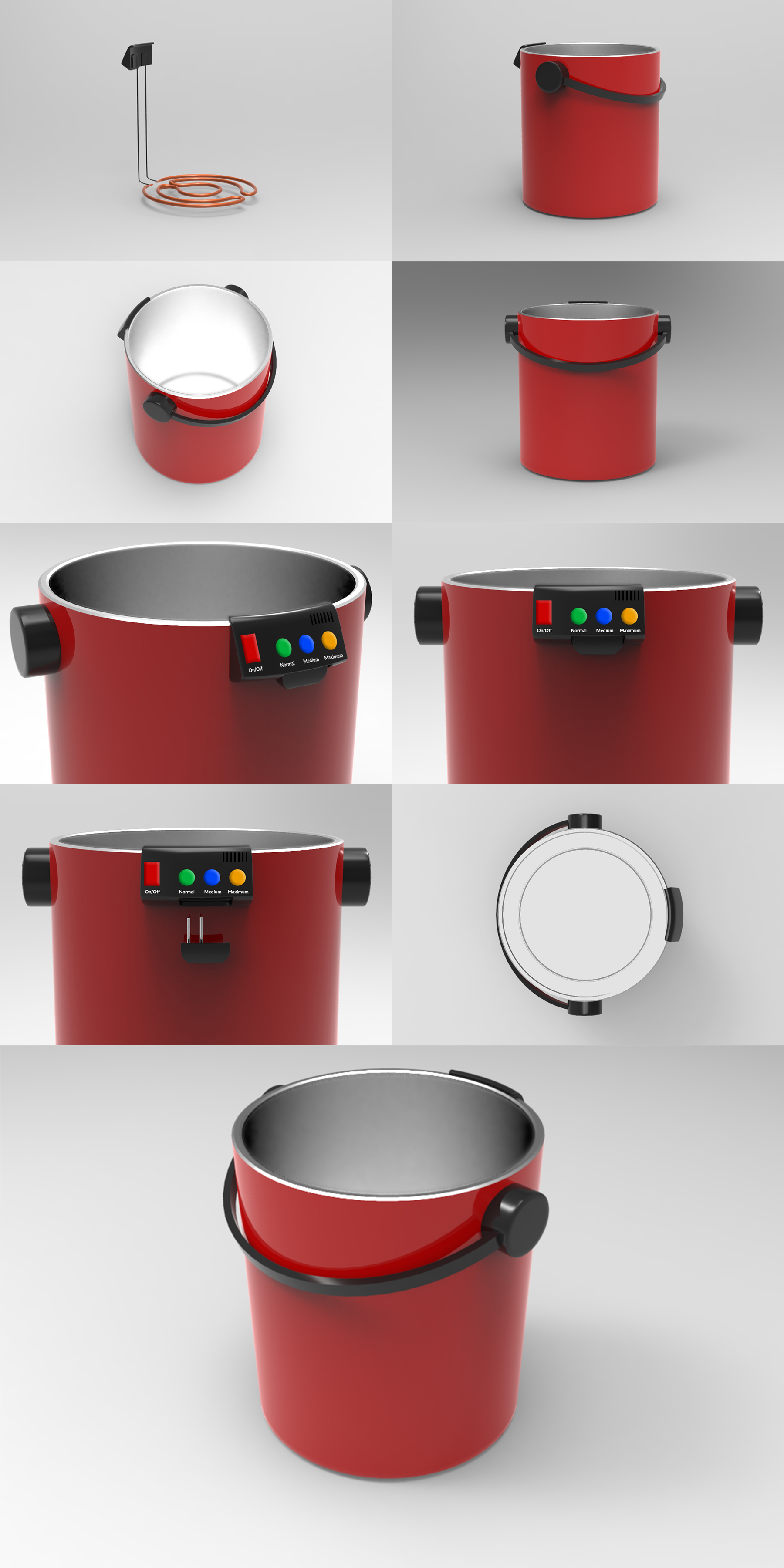 Smart Bucket Product Images by Usercible Design and UX Consulting