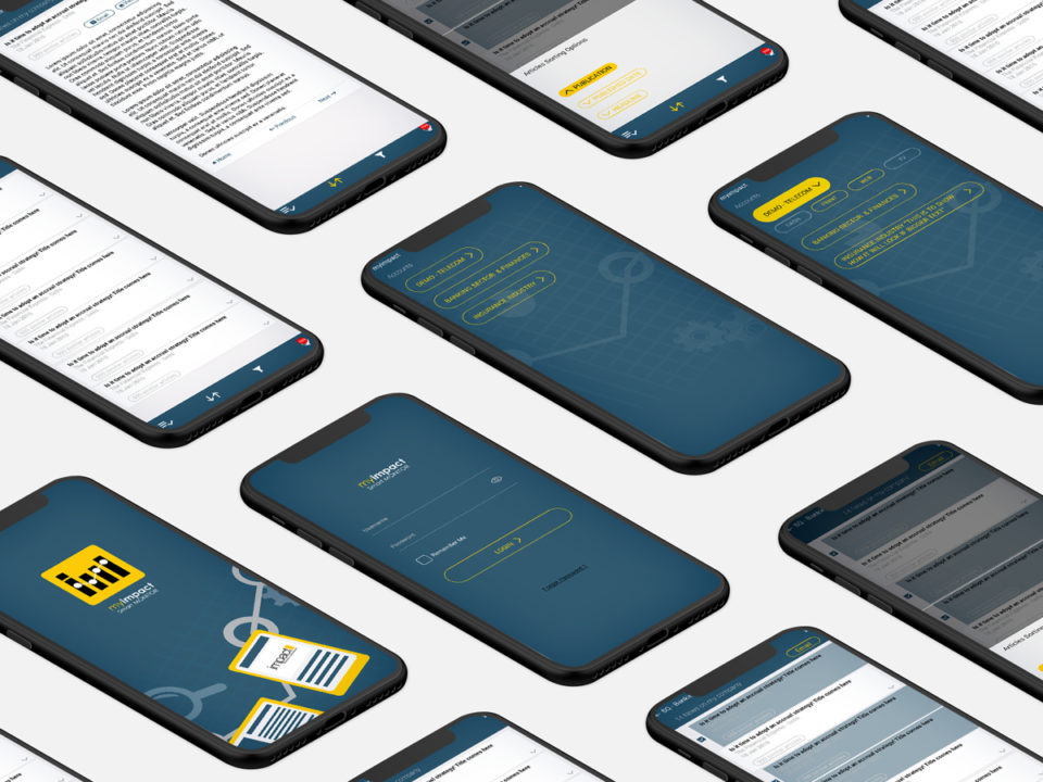 Do More with Less - Impact Mobile App - UX/UI Redesign